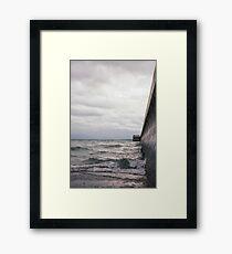 Breaking Lake Ontario Framed Print