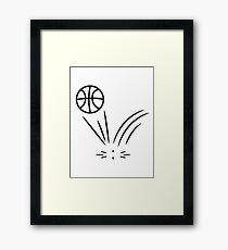 Basketball sports ball jump Framed Print