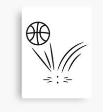 Basketball sports ball jump Canvas Print
