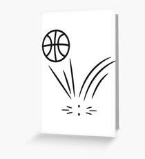 Basketball sports ball jump Greeting Card