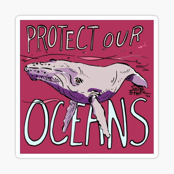 Protect Our Oceans (Humpback Whale) Sticker