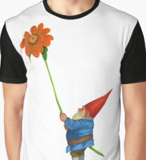 Gnome with Mexican Sunflower Graphic T-Shirt