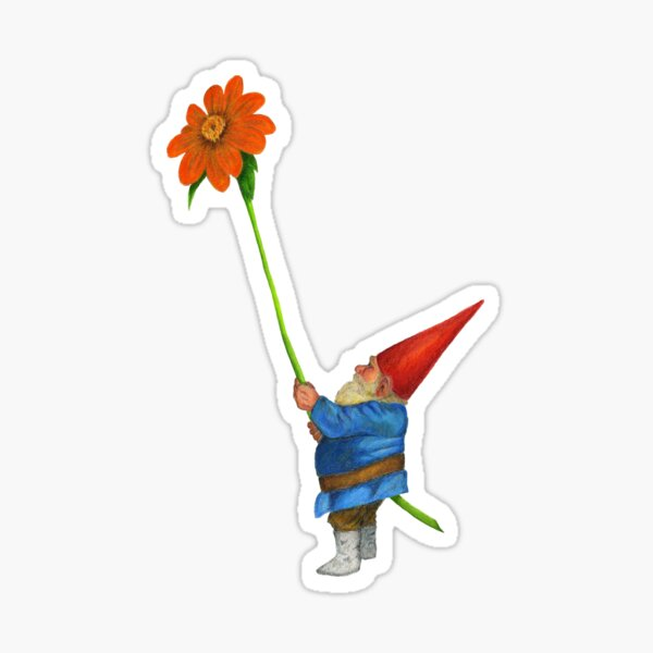 Gnome with Mexican Sunflower Sticker