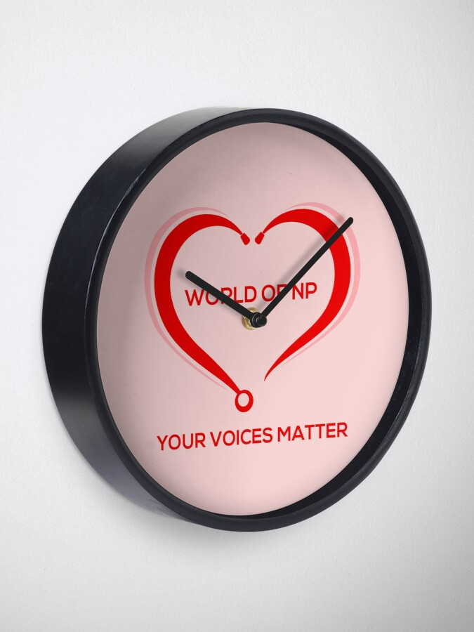 Alternate view of World Of NP Your Voices Matter Clock
