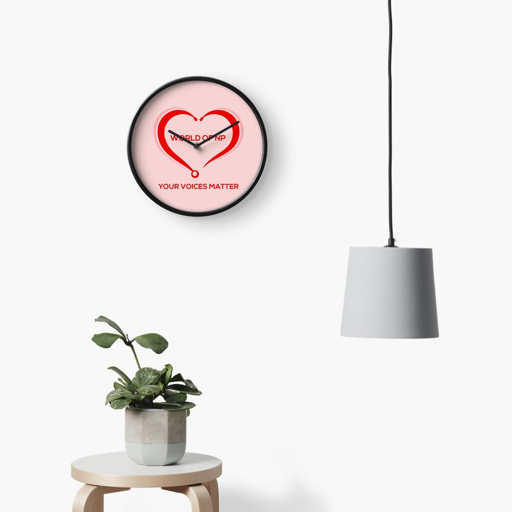 World Of NP Your Voices Matter Clock
