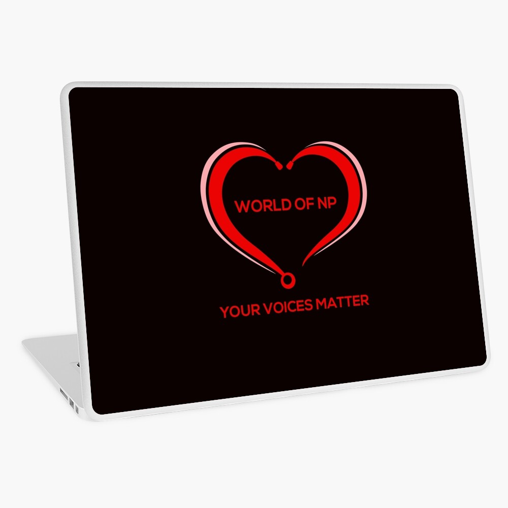 World Of NP Your Voices Matter Laptop Skin