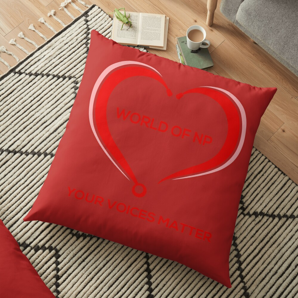 World Of NP Your Voices Matter Floor Pillow