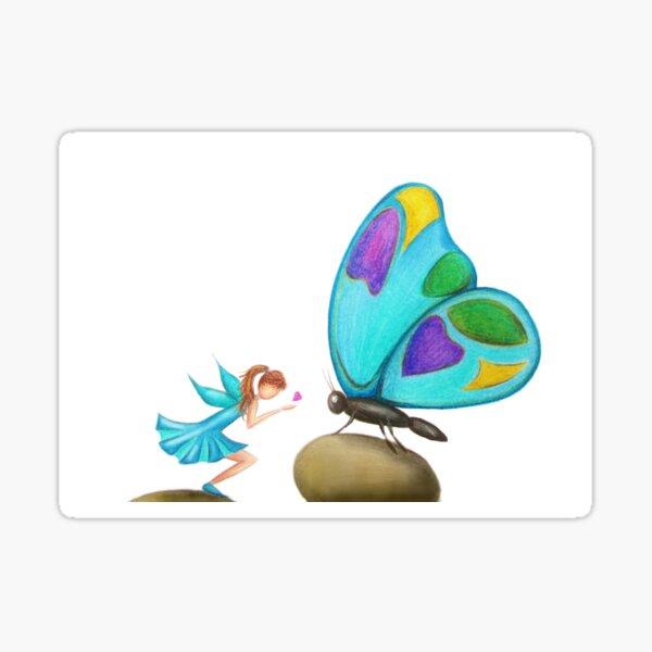 Butterfly & Fairy Kisses Sticker