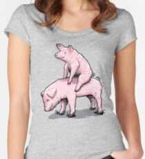 Piggy Back Ride Women's Fitted Scoop T-Shirt