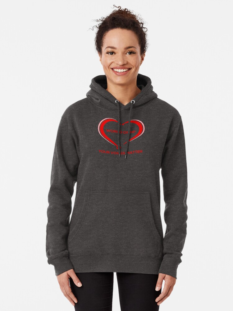 Alternate view of World Of NP Your Voices Matter Pullover Hoodie