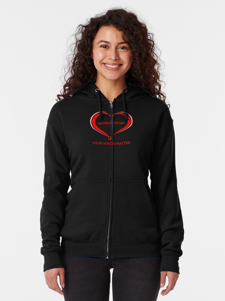 Alternate view of World Of NP Your Voices Matter Zipped Hoodie