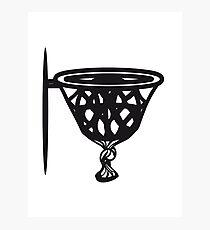 Basketball basket sports funny Photographic Print