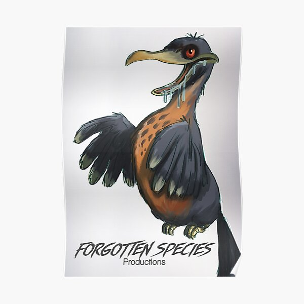 """Forgotten Species Productions """"Zombie Dodo"""" Poster Poster"""
