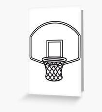 Basketball basket sports Greeting Card