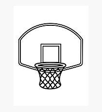 Basketball basket sports Photographic Print