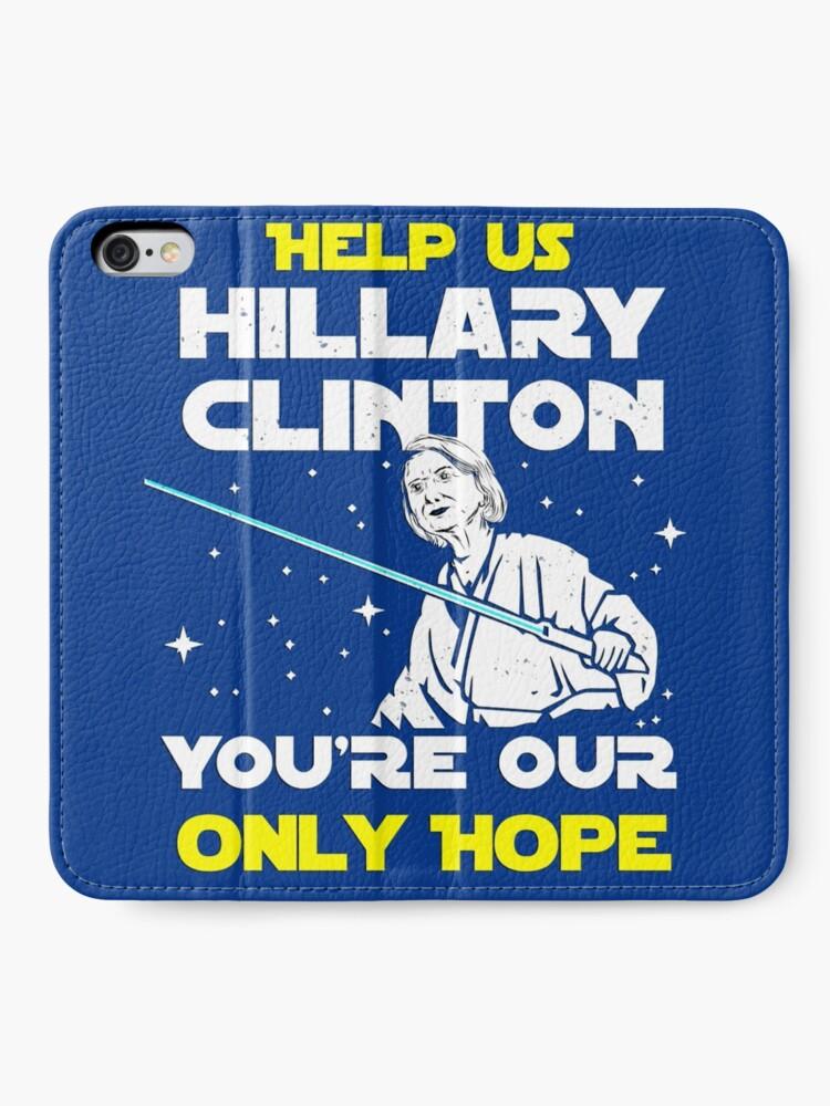 Alternative Ansicht von Rette uns Hillary! iPhone Flip-Case
