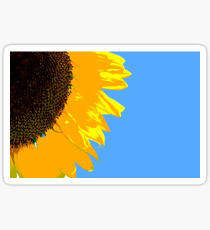 Sunflower Posterised Sticker