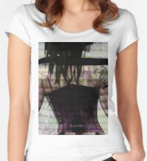 Woman In Corset Women's Fitted Scoop T-Shirt