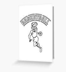 Basketball basket combat sports Greeting Card