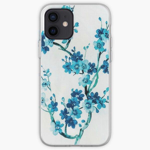 Blue cherry tree iPhone Soft Case