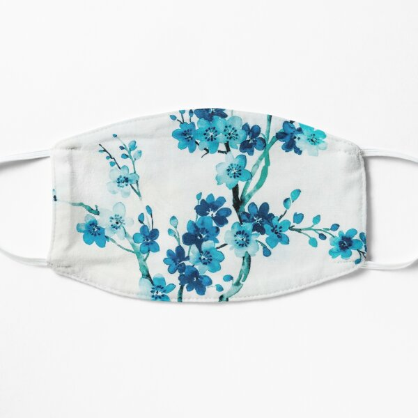 Blue cherry tree Flat Mask
