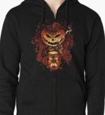 Pumpkin King Lord O Lanterns Zipped Hoodie
