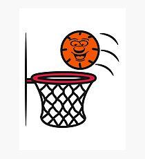Basketball basket pleasure sports Photographic Print