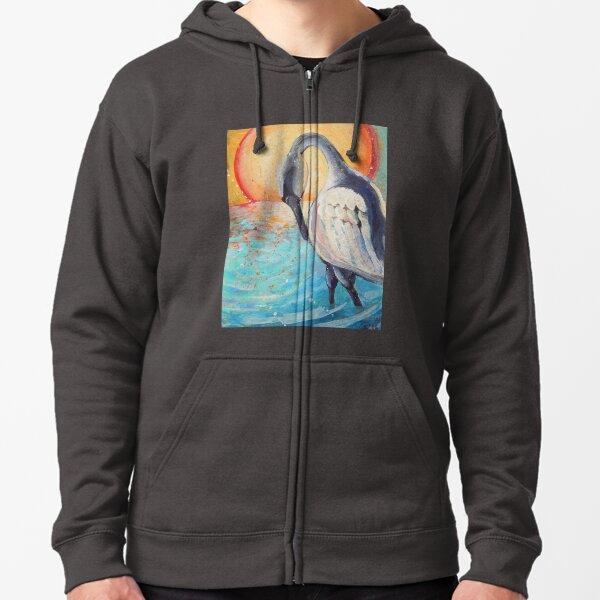 Sea Swan Zipped Hoodie