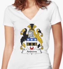 Andrews Coat of Arms / Andrews Family Crest Women's Fitted V-Neck T-Shirt