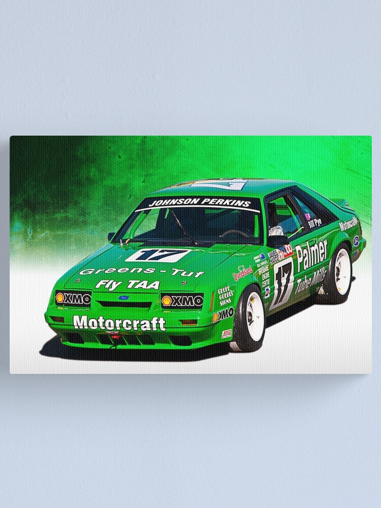dick johnson mustang canvas print by stuartrow redbubble redbubble