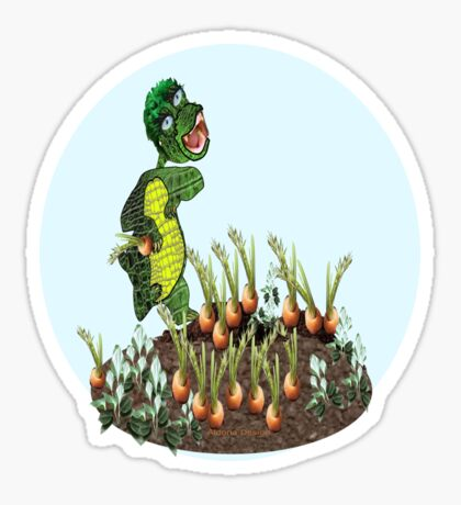 Greeny chases rabbits of his carrot patch ( 844 Views) Sticker