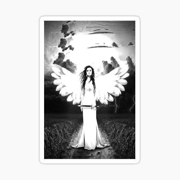Black & White Angel Sticker