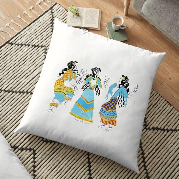 Minoan Dancers Floor Pillow