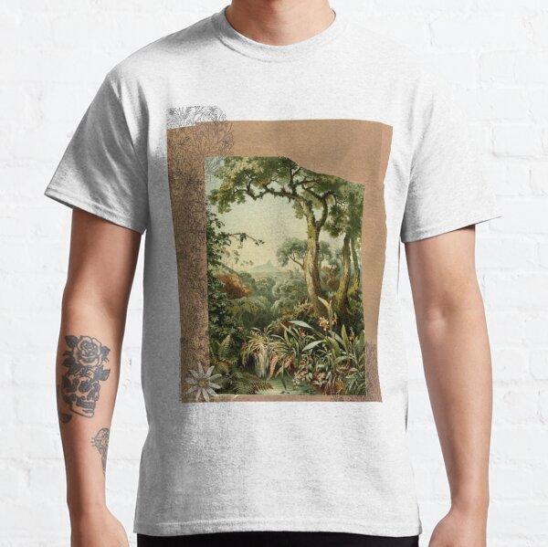 VINTAGE FOREST JUNGLE Collage of Ceylon   Botanical drawing fine art embellished  Classic T-Shirt