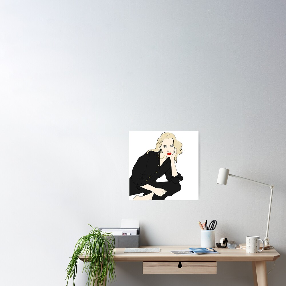 Cool Blonde Line Art Poster