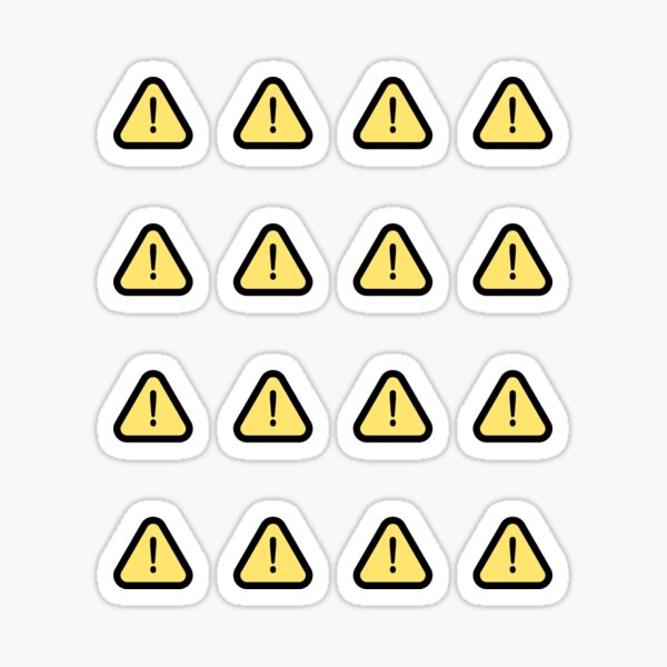 Small Warning Sign Yellow Sign Sticker