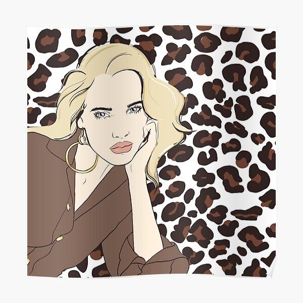 Blonde & Leopard Design Poster