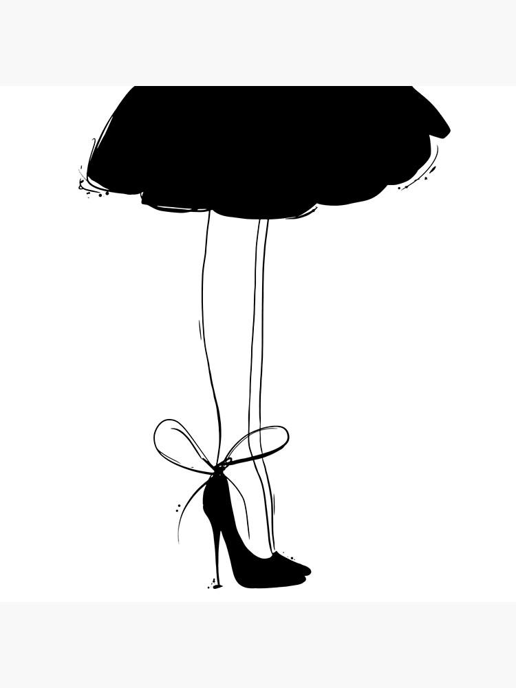 Black Dress Line Art by TapestryGirls