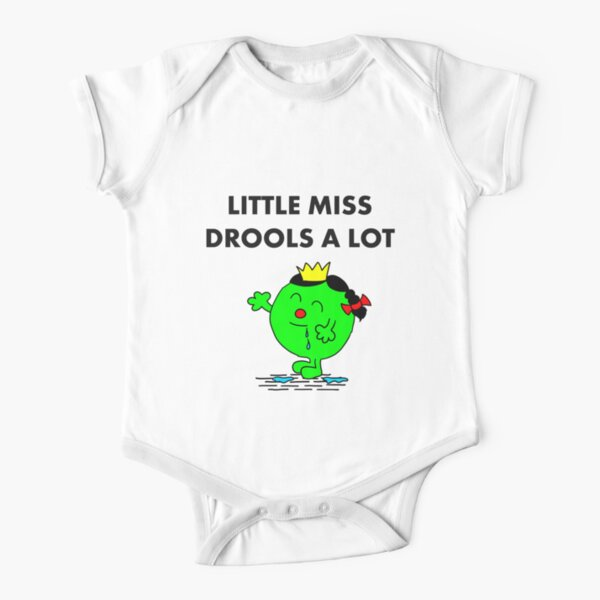 Miss Drools a Lot Short Sleeve Baby One-Piece