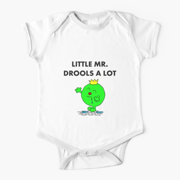 Mr Drools a Lot Short Sleeve Baby One-Piece