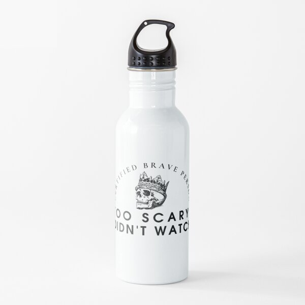 Certified Brave Person Water Bottle