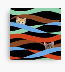 Ribbon Cats Canvas Print