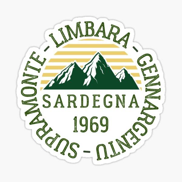 Mountain Ranges Sardinia, Italy Sticker