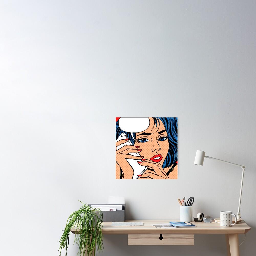 Talk Pop Art Poster