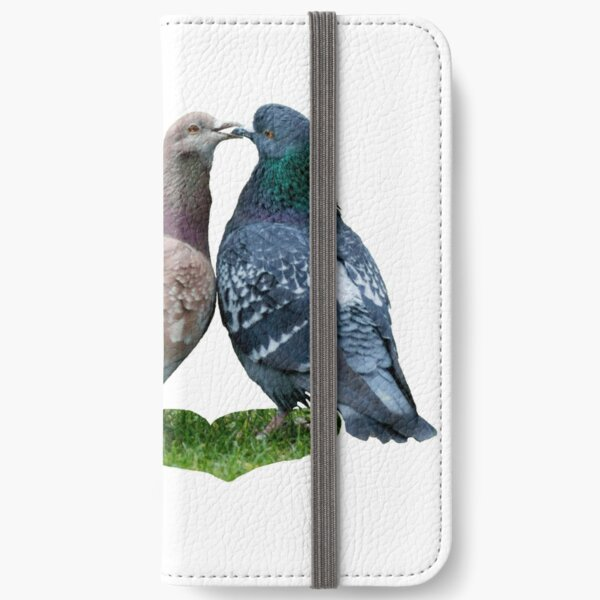 love story - or the tale of the kissing pigeons iPhone Wallet
