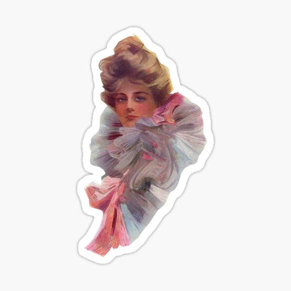 Gibson Girl Ruffles Sticker