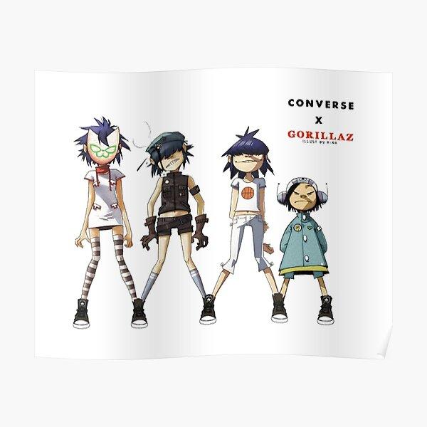 Gorilaz - Quatre filles Poster