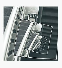 Spinning Carpeted Stairwell Photographic Print