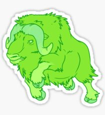 Leaping Lime Musk-ox Sticker