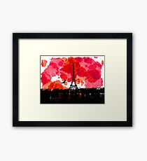 Paris watercolor  Framed Print